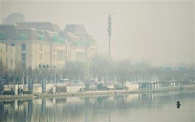 雾霾昨天再袭津城 远景一片迷蒙