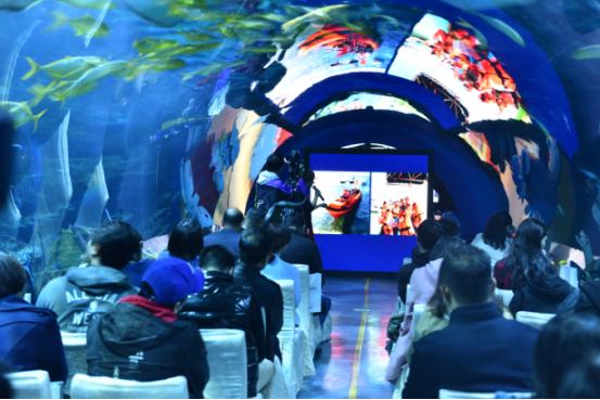 南海之梦邮轮携手天津海昌海洋馆举行战略合作新闻发布会