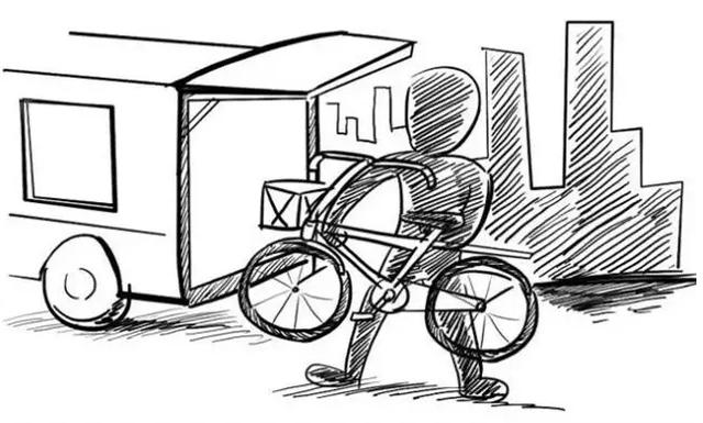 """天津俩小伙为赶时尚,用面包拉""""共享单车""""回村骑"""