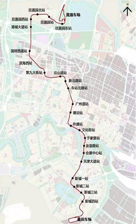 滨海新区首条地铁要开工 预计2020年正式通车