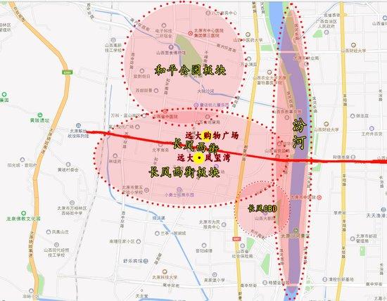 以和平公园和长风商务区为辐射半径的经济增长圈,一路赶超迎泽大街图片