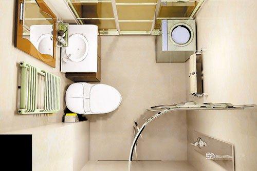 小户型卫浴设计方案:4平米以下卫生间设计(图)
