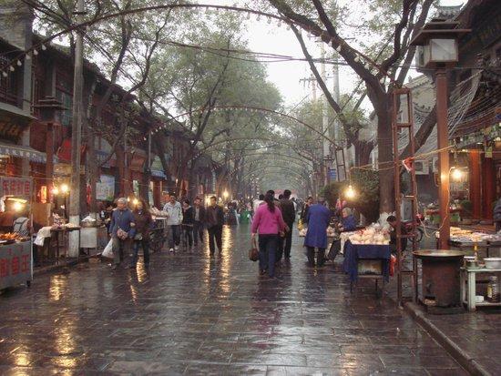 小吃美食一条街位于西安西大街鼓楼北侧nanwangde回民图片
