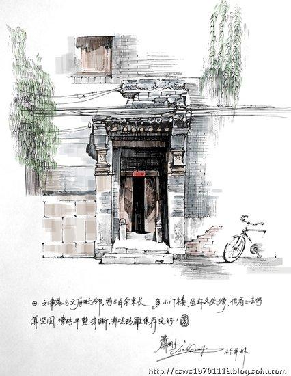 一牛人手绘太原各处古建筑.