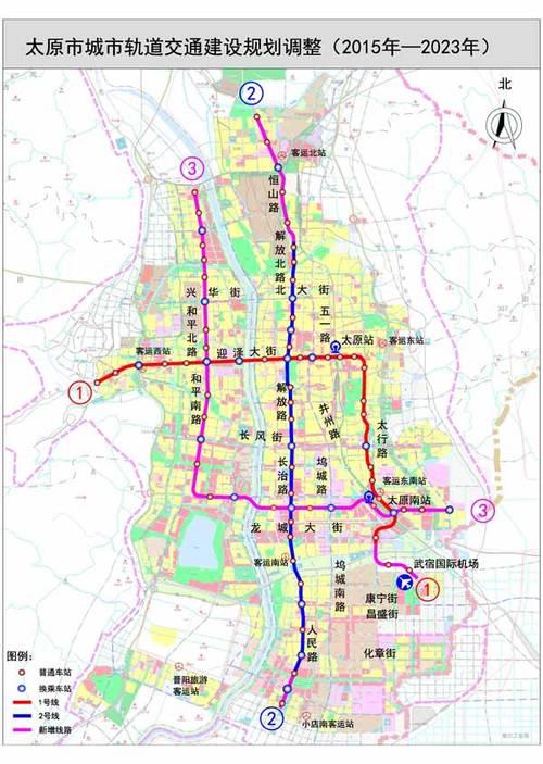 太原地铁规划图(2015年-2023年)-太原地铁加油 2号线高歌猛进1 3