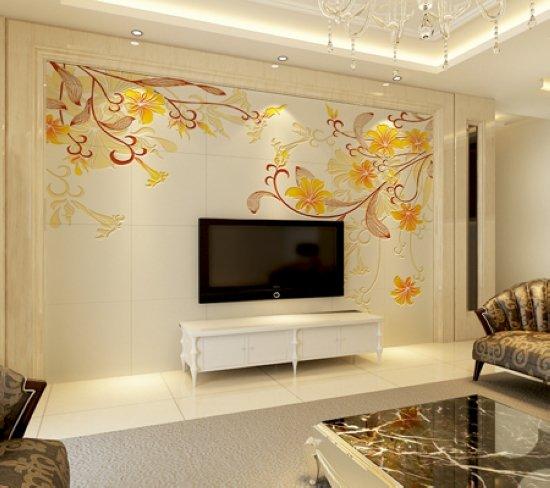 打破传统 10款客厅电视瓷砖的背景墙(组图)