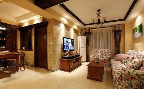 进门看到的样子~左边是餐厅右边是客厅~一目了然.-55平超温馨小户图片