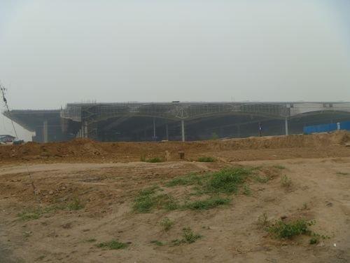 太原南站迎中博9月底即将完工 最新施工进度图