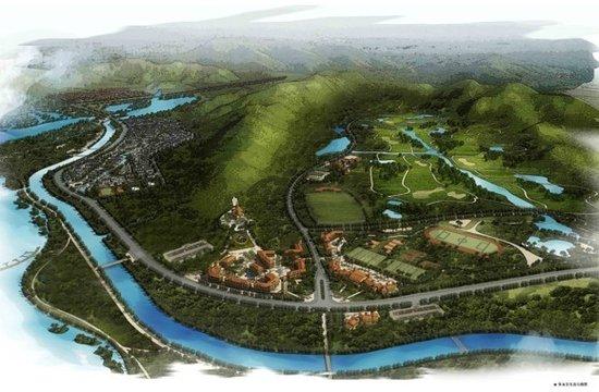 体育公园紧邻台州植物园,婚庆园等项目,项目内另有一块商业金融业
