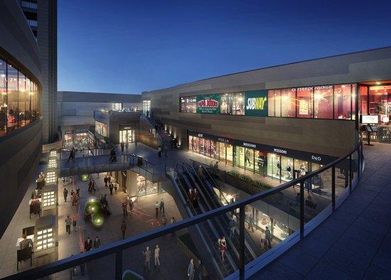 比如沿河情景商业独栋,下沉式中央商业广场,打造高端的消费体验模式.图片