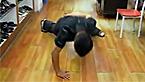48岁运动达人 单手俯卧撑挑战吉利斯记录