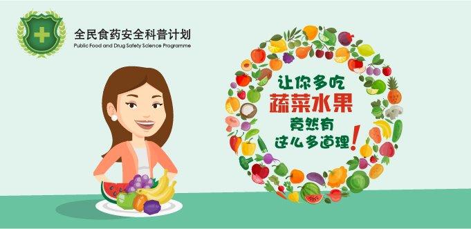 【药你知道】:让你多吃蔬菜水果竟然有这么多道理