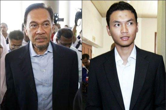 安瓦尔(左)被指控鸡奸了自己的前助理赛义夫(右)