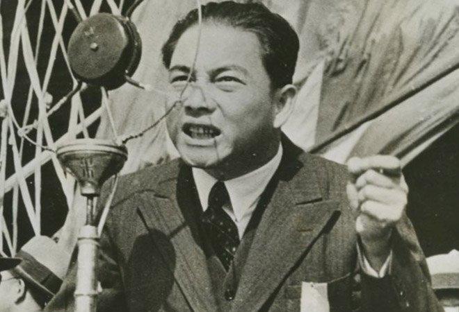 1939年,汪精卫在发表演讲