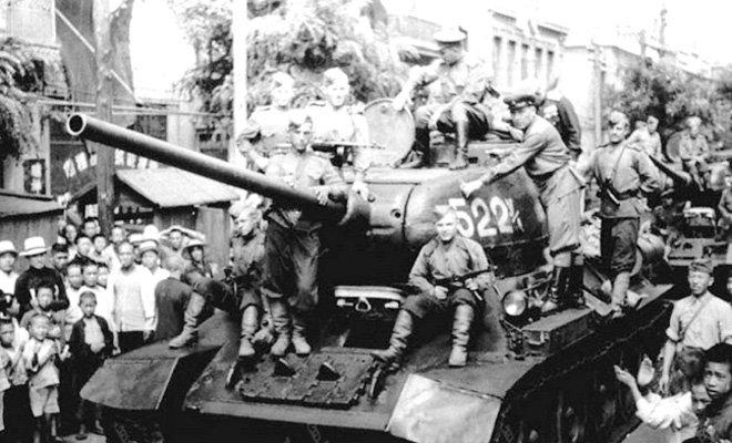 1945年8月,苏军进入大连