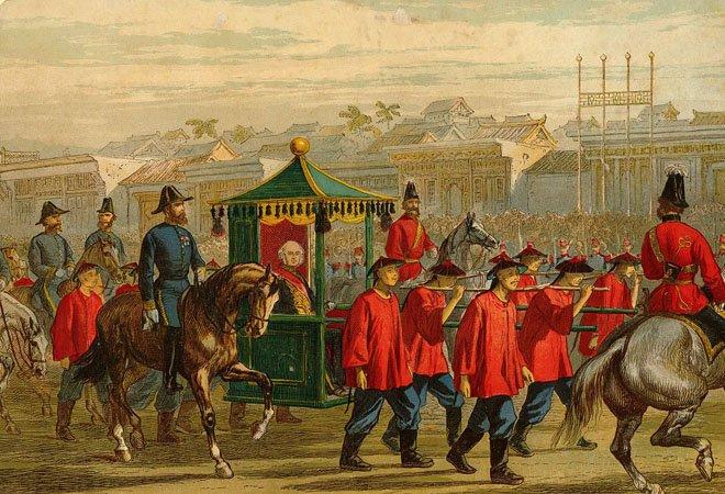 1860年,额尔金随英法联军进入北京