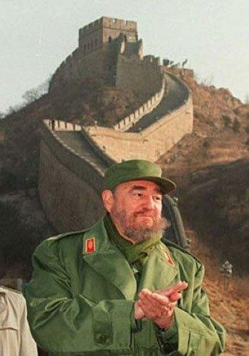 1995年12月,卡斯特罗在八达岭长城