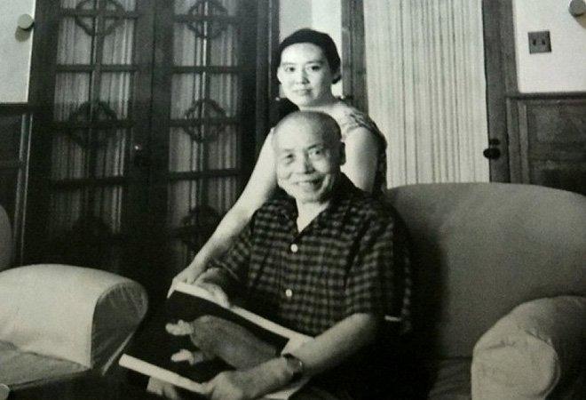 李宗仁和胡友松在家中合影