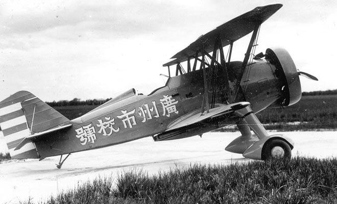 陈济棠时期的广东空军飞机。