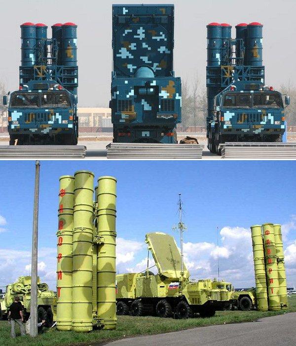 红旗-9导弹防空系统和俄罗斯S-300导弹防空系统。