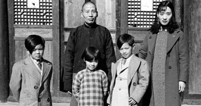 """刘文辉一家。抗战期间,刘文辉割据西康,阻挠""""田赋征实""""甚力"""