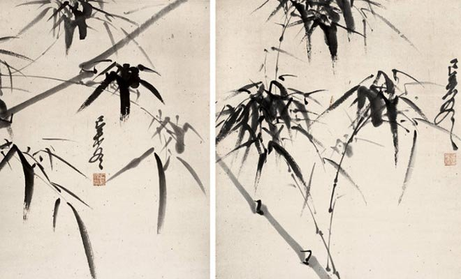 """吴佩孚号称""""儒将"""",能舞文弄墨,这是他画的墨竹"""
