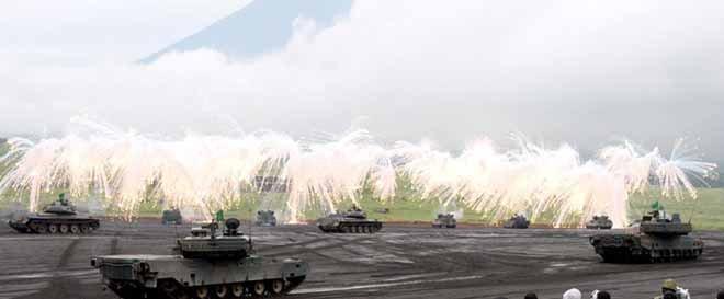 日本自卫队军演