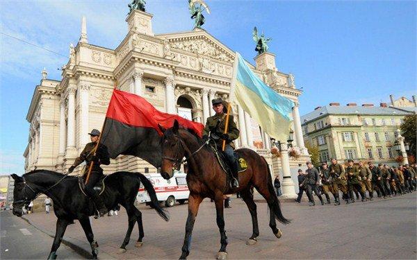 乌克兰西部城市的极端民族主义组织