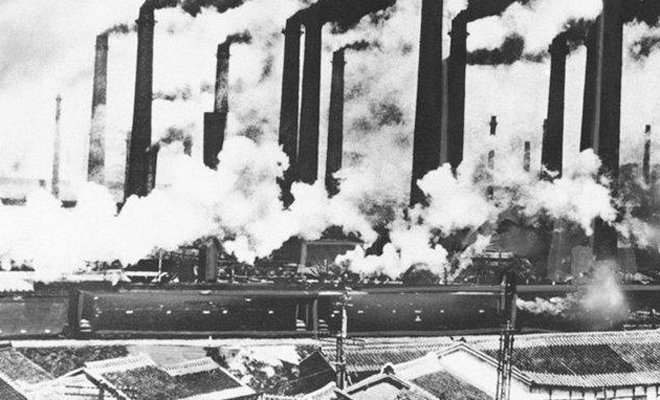 曾经烟雾弥漫的日本城市
