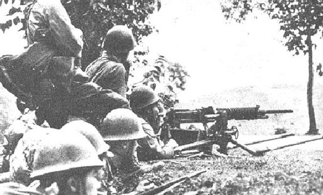一号作战中,使用92式重机枪的日军