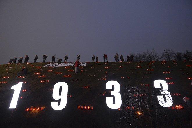 去年11月23日,乌克兰民众纪念大饥荒事件