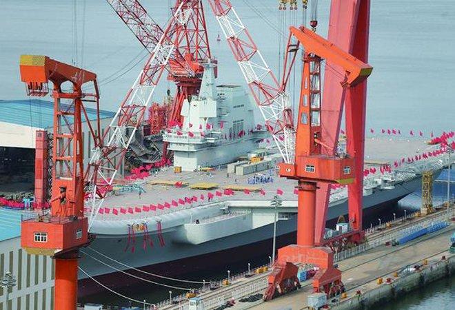图:尚未命名的中国第二艘航母