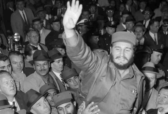 1959年,卡斯特罗访问美国,在纽约受到追捧