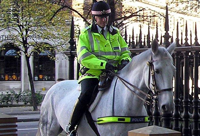 英国伦敦的骑警