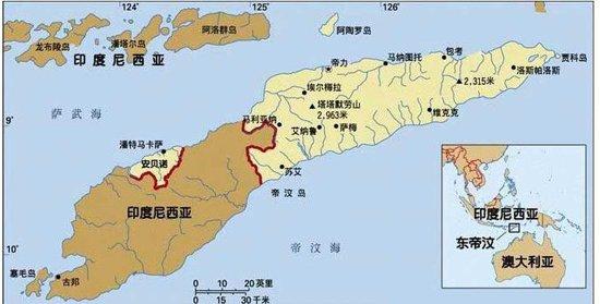东帝汶地图