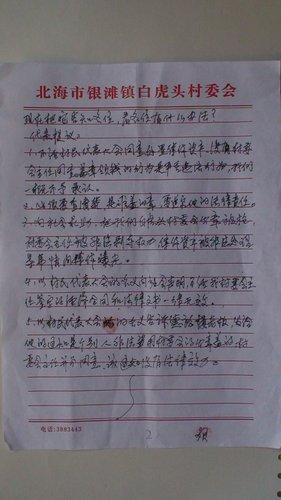 白虎头村民代表大会决议(组图)