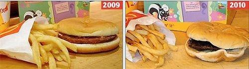 麦当劳汉堡一年不坏 被指含防腐剂过多