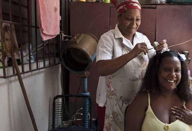 古巴的一家个体美容店