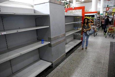 委内瑞拉偿还美国贷款重创国内经济,超市货架空空如也