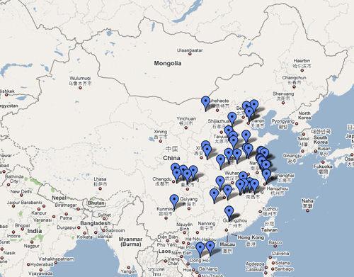 """网络上流传""""中国癌症村地图"""""""
