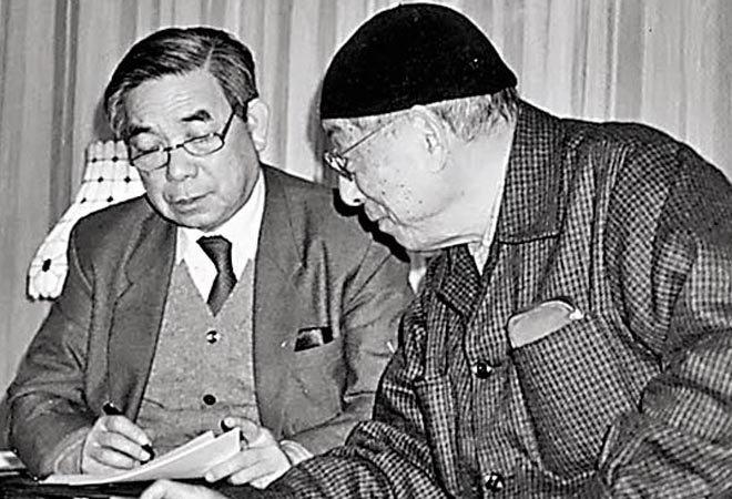 唐德刚(左)和张学良在一起