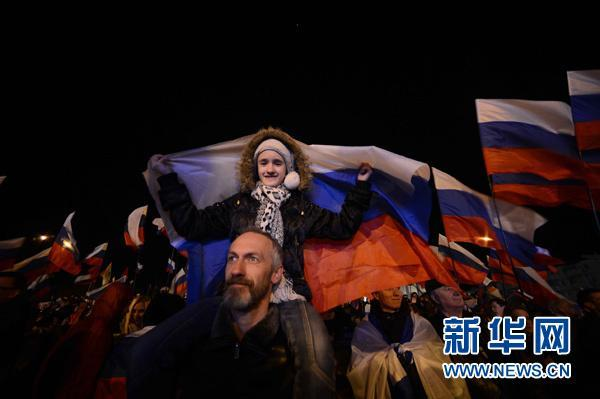 克里米亚公投计票过半数 超九成赞同入俄
