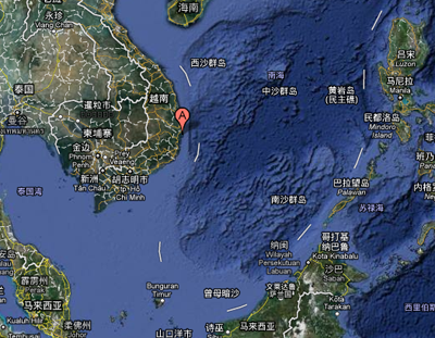 越南南海军演地点