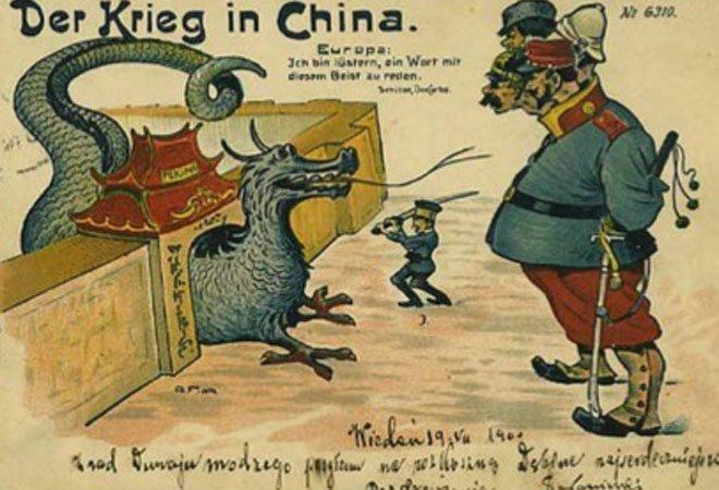 1900年,德国明信片《在中国作战》