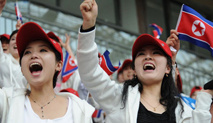 朝鲜啦啦队惊艳东亚运