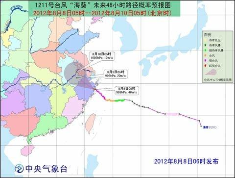 台风红色预警:海葵登陆浙江已减弱为台风