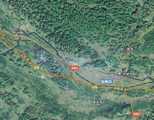 广西河池宜州地图图片来源:百度地图