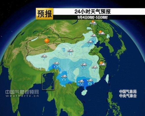 9月4日—7日天气预报图-东北雨水暂歇水位回落 6日再迎降雨过程