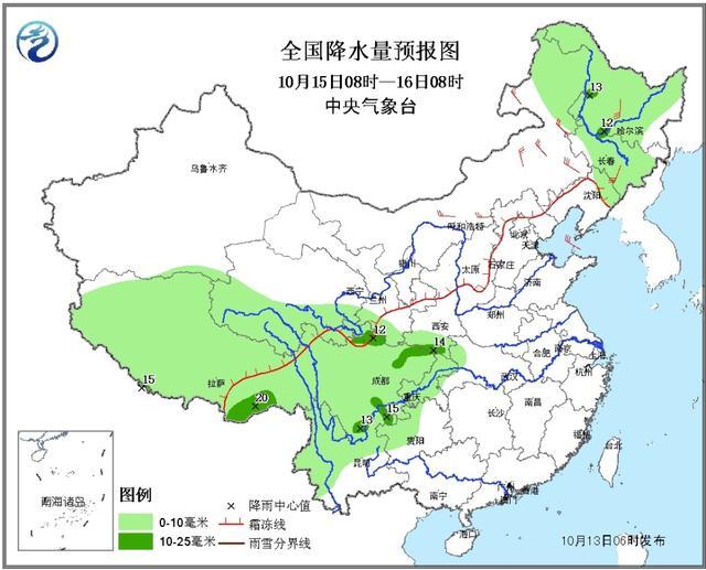 未来三天西南有雨青海西藏局部降雪