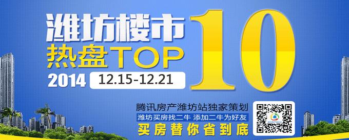 潍坊楼市热盘TOP10:12.15-12.21